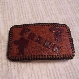 Personalized Leather Belt Buckle Frank